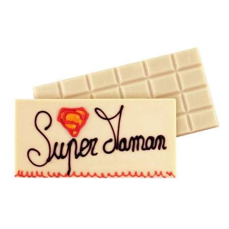 Tablette au chocolat blanc à personnaliser