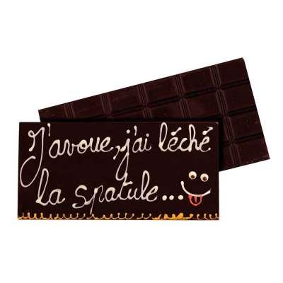 Tablette au chocolat noir à personnaliser