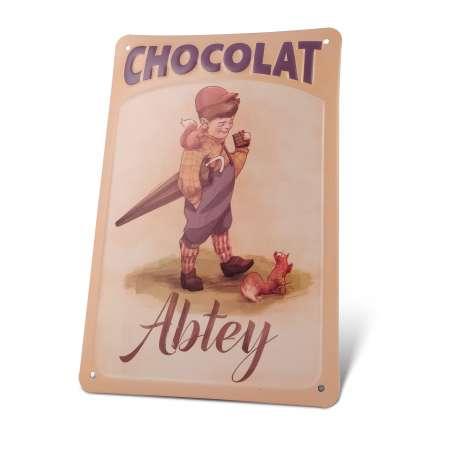Plaque Métal Décorative Chocolat Abtey