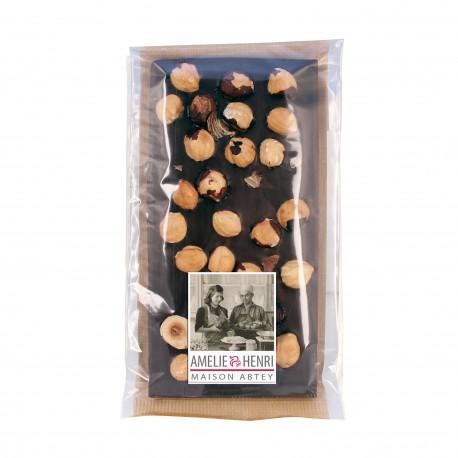 Tablette chocolat noir aux noisettes