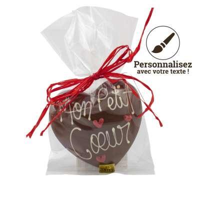 Coeur Chocolat au Lait à personnaliser