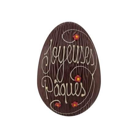 Oeuf Joyeuses Pâques au chocolat noir