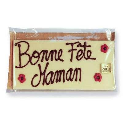 Tablette chocolat blanc pour Maman