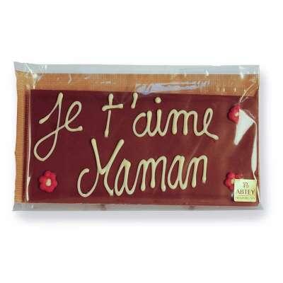 Tablette chocolat au lait pour Maman