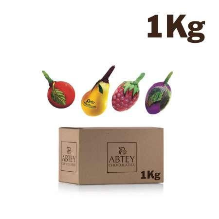 Vrac 1 kg mélange de liqueurs d'eaux de vie (fruits)