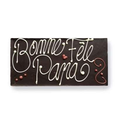 Tablette chocolat noir pour Papa