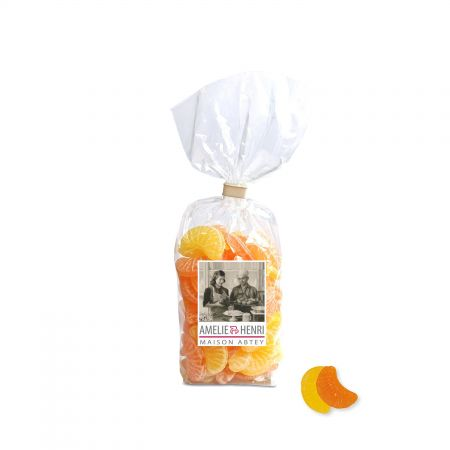 Sachet de bonbons citron et orange en tranches