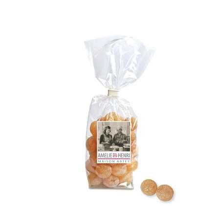 Sachet de bonbons boules fourés au miel