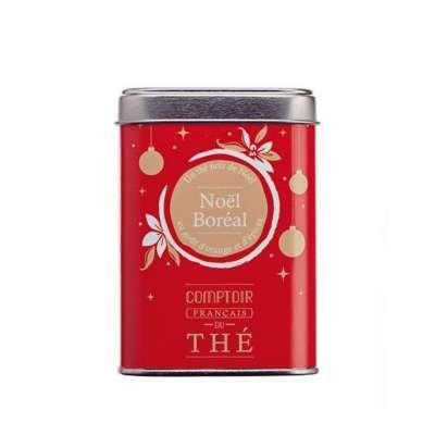 Boîte métal thé Noël Boréal