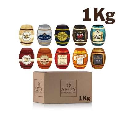 Vrac 1 Kg assortiment tonnelets liqueurs de marque