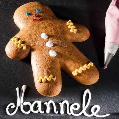 """Bonhomme en Pain d'Epices d'Alsace """"Mannele"""" ou """"Mannala"""""""