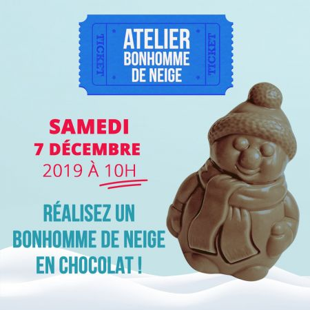 Atelier Bonhomme de neige : Samedi 7 décembre 2019 à 10h00