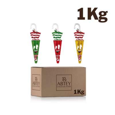Vrac 1 Kg Parapluies de Noël (au chocolat au lait)