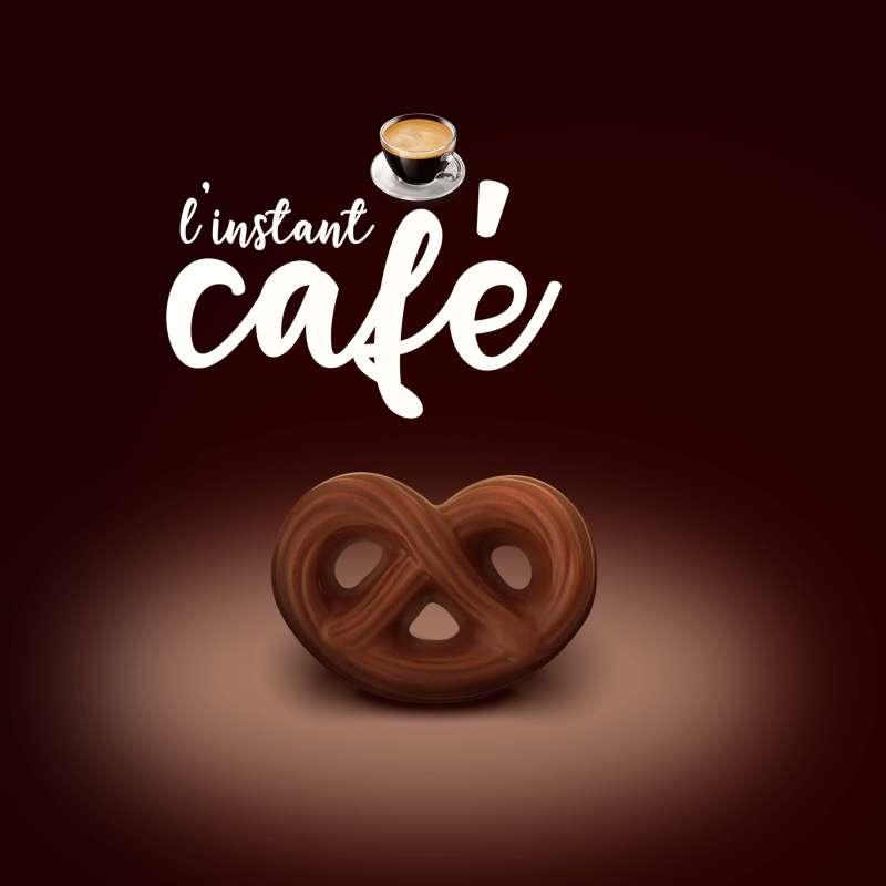 Sachet de bretzels au chocolat au lait pour le café