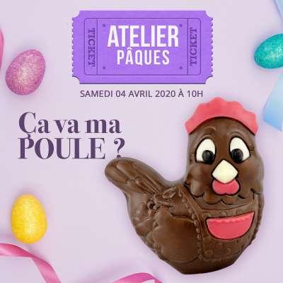 Atelier Pâques : Samedi 04 avril 2020 à 10h00 (à partir de 4 ans)