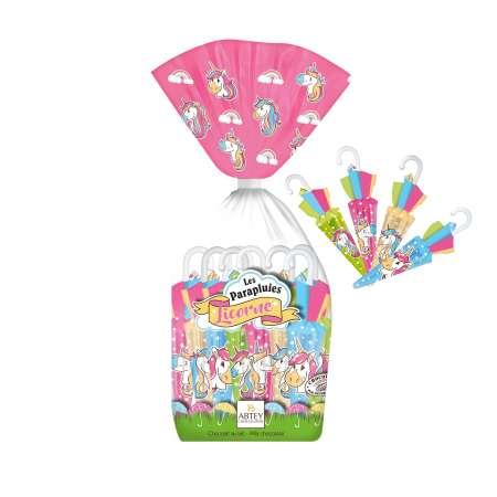 Sachet Parapluies Licorne (au chocolat au lait)