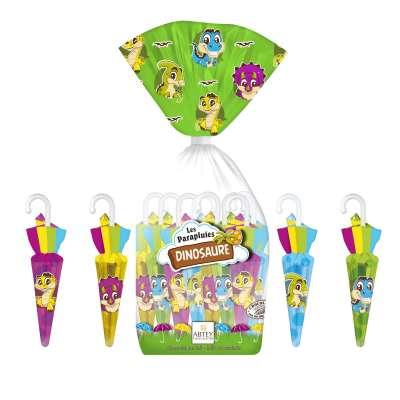 Sachet Parapluies Dinosaure (au chocolat au lait)