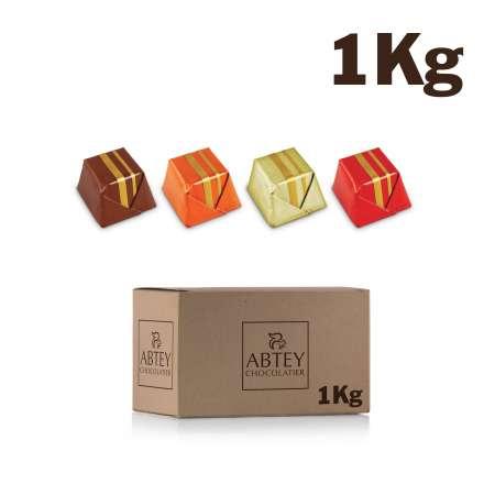Vrac 1 Kg chocolat carrés pralinés