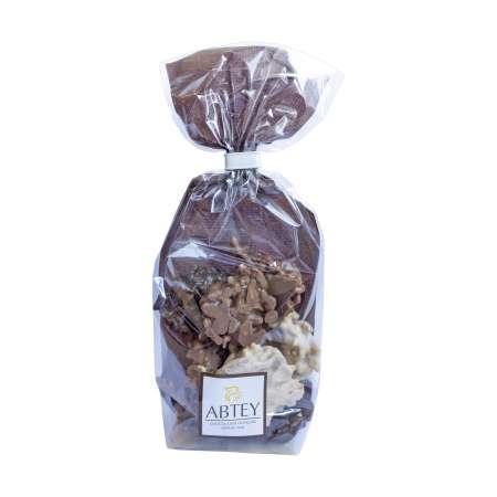 Sachet de rochers amandes mix au chocolat au lait, noir et blanc (100g)