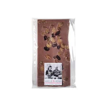 Tablette Chocolat au lait rhum raisins