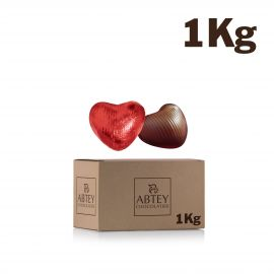 Vrac 1 Kg Coeurs fourrés Pralinés (au chocolat au lait)