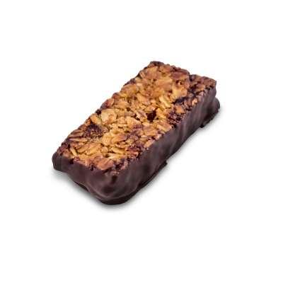 Barre de céréales aux abricots et pruneaux au chocolat noir (50g)