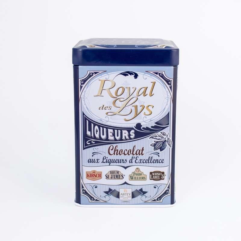 """Boîte en métal """"Vintage"""" liqueurs (au chocolat noir)"""