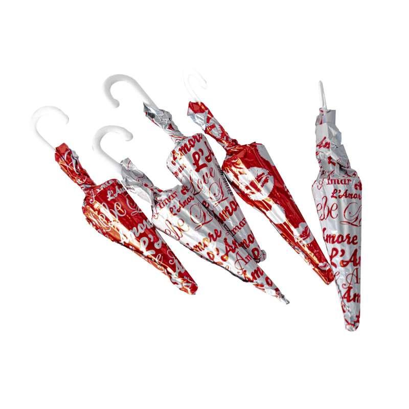 Sachet 15 Parapluies LOVE (au chocolat au lait)