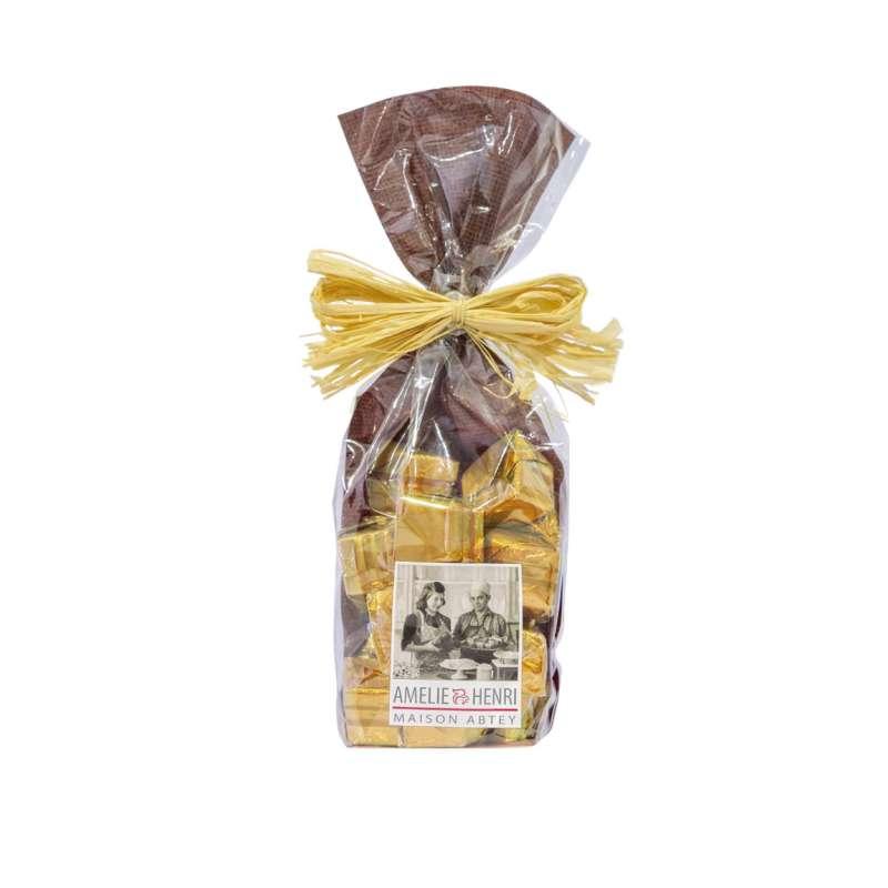Sachet 15 Carrés (au chocolat noir praliné nougatine)