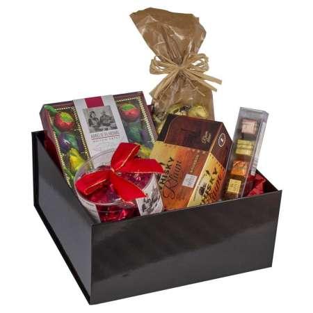 Coffret cadeau de Noël liqueurs et pralinés