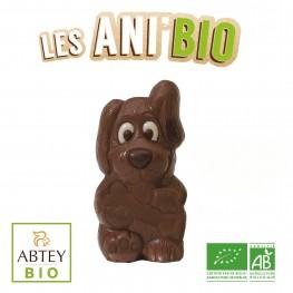 Moulage Ani'Bio Dog le chien (au chocolat au lait bio décoré)