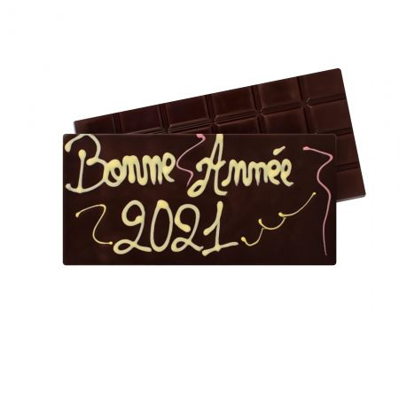 Tablette de chocolat noir Bonne Année 2021