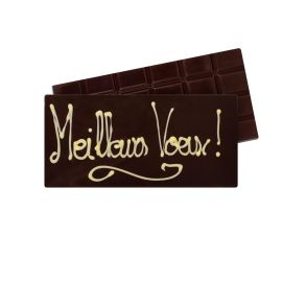 Tablette de chocolat noir Meilleurs Vœux