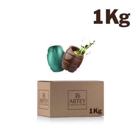 Vrac 1 kg tonnelet liqueur de Génépi (chocolat noir fourré)