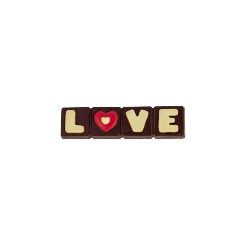 Réglette Barre LOVE chocolat noir (50g)