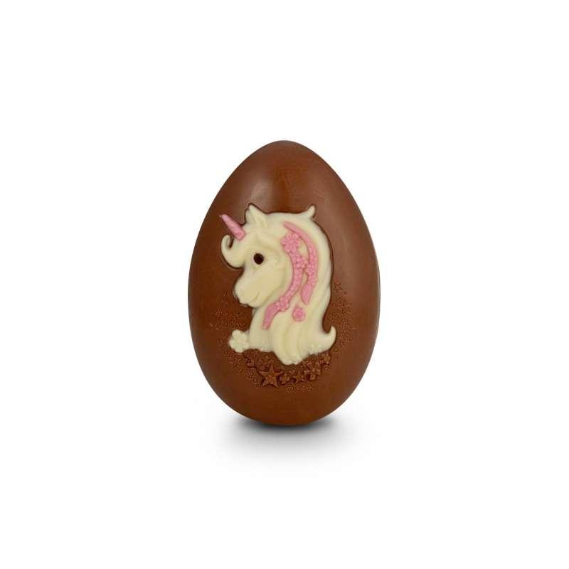 Oeuf Joyeuses Pâques (au chocolat au lait décoré)