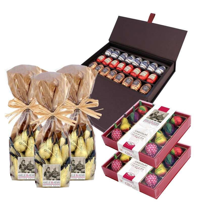 L'assortiment Chocolats Liqueurs de Pâques (F0220D)