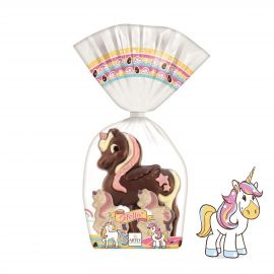 Moulage Stella la licorne et ses 2 mini licornes (au chocolat au lait et chocolat blanc)