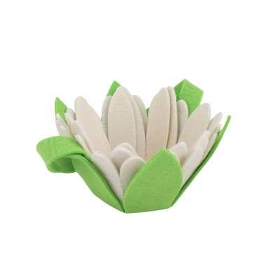 Panier feutrine fleur avec anse