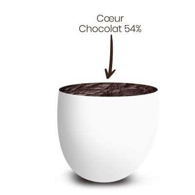 Vrac 500g Dragées Chocolat Couleur Blanc Brillant