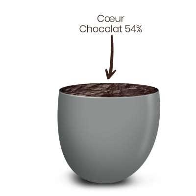 Vrac 500g Dragées Chocolat Couleur Gris Lune Brillant