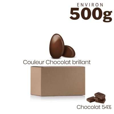 Vrac 500g Dragées Chocolat Couleur Chocolat Brillant