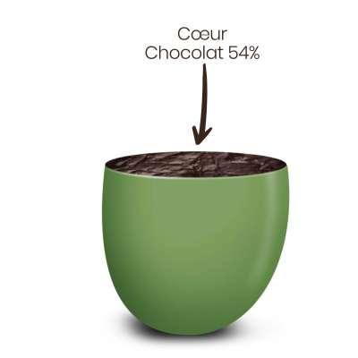 Vrac 500g Dragées Chocolat Couleur Anis Brillant