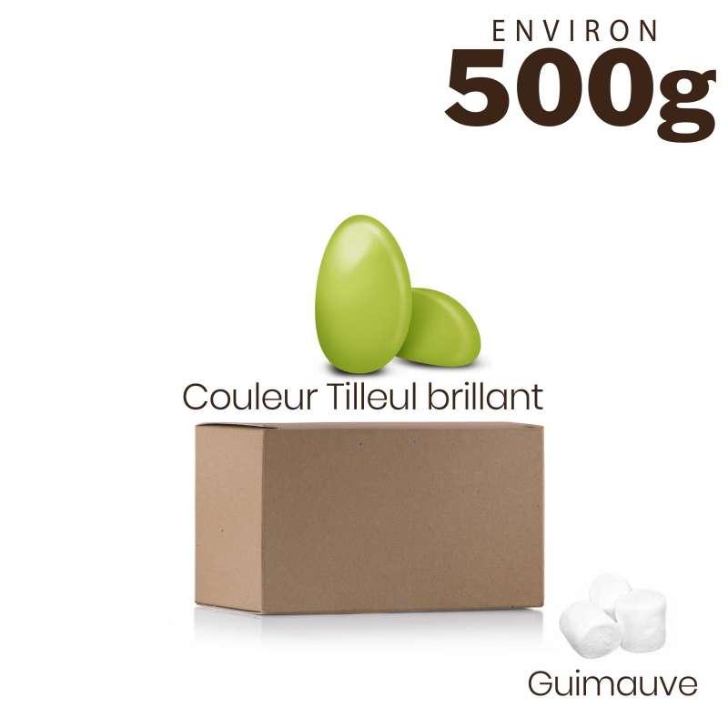 Vrac 500g Dragées Guimauve Couleur Tilleul