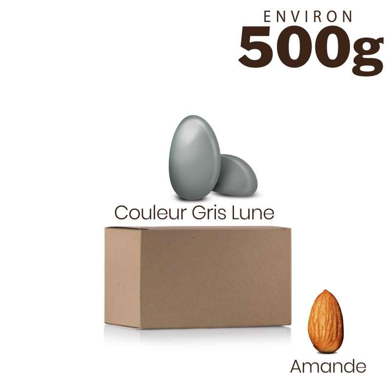Vrac 500g Dragées Amande Alsace Couleur Gris Lune