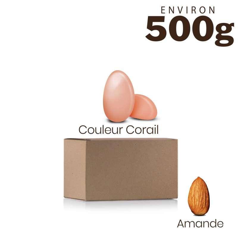 copy of Vrac 500g Dragées Amande Alsace Couleur Corail