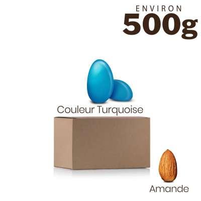 Vrac 500g Dragées Amande Alsace Couleur Turquoise