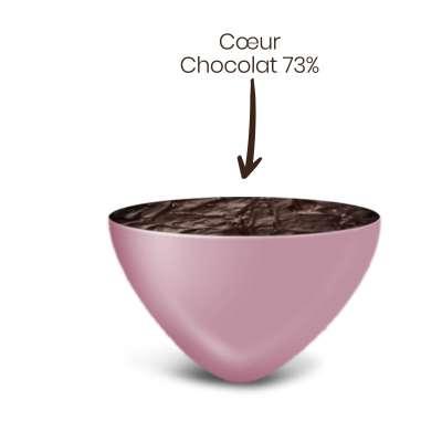 Vrac 500g Dragées Mini Coeurs Chocolat Couleur Rose Nacré Brillant