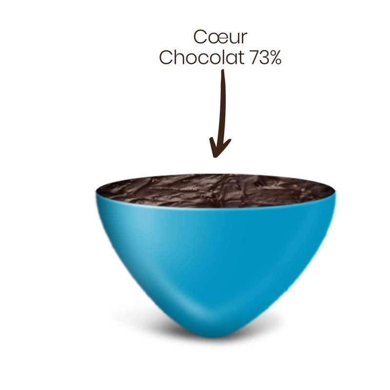 Vrac 500g Dragées Mini Coeurs Chocolat Couleur Turquoise Brillant