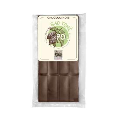 Tablette de chocolat noir origine São Tomé 70%